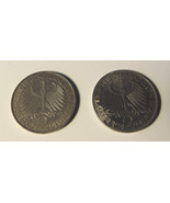 1963 & 1958  , 2 Deutsche Mark - Germany - Max Planck -  1858-1947 -  2 ... - $48.00