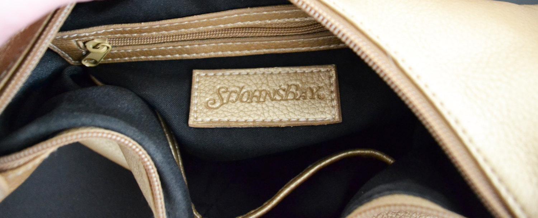 Free Ship Soft Leather Gold Purse Handbag Clean St. John's Bay
