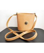 Free Ship Vintage Cherokee Purse Tan Leather Bucket Shoulder Bag - $24.99