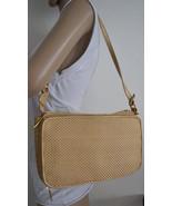 Free Ship Soft Gold Purse Organizer Bag Vegan Faux Leather Weaved Should... - $26.00
