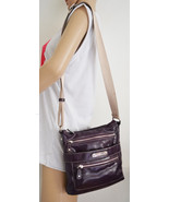 Free Ship Franco Sarto Purple Purse Vegan Faux Leather Purse Cross Body ... - $26.00
