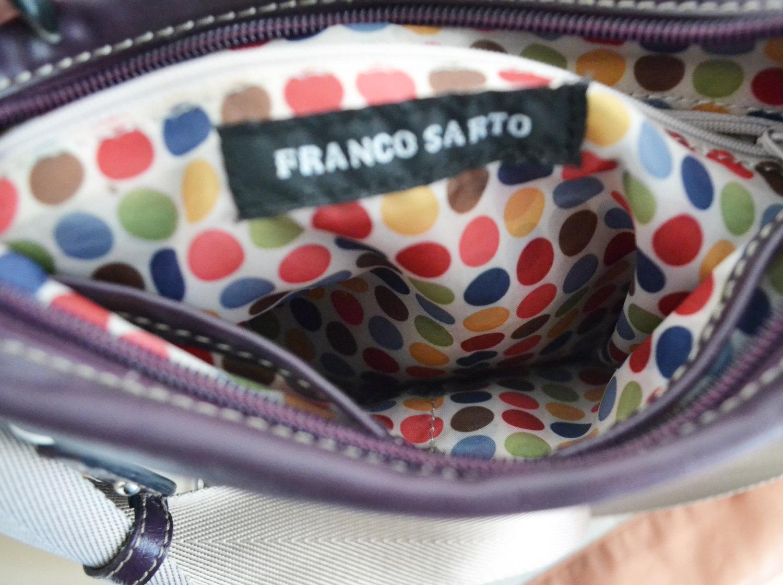 Free Ship Franco Sarto Purple Purse Vegan Faux Leather Purse Cross Body Shoulder