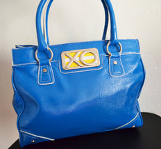 Free Ship Clean Blue Faux Leather Purse XOXO - $32.00