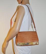 Free Ship Liz Claiborne Small purse Tapestry and Stamped Faux Vegan Leather Hand - $19.99