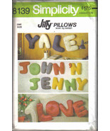 Simplicity 8139 Pattern  Alphabet Pillows letters name vintage child room decor - $4.77