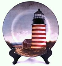 David Carter Brown By The Sea Lighthouse Salad Dessert Plate - $16.95