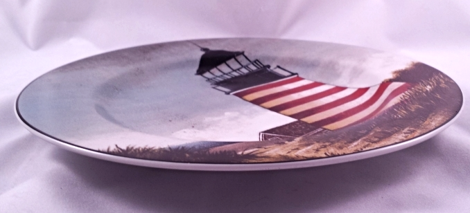 David Carter Brown By The Sea Lighthouse Salad Dessert Plate