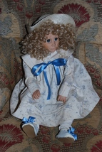 "Effanbee Doll Blond Blue Eyes Curls 1988 21"" Mo... - $44.95"