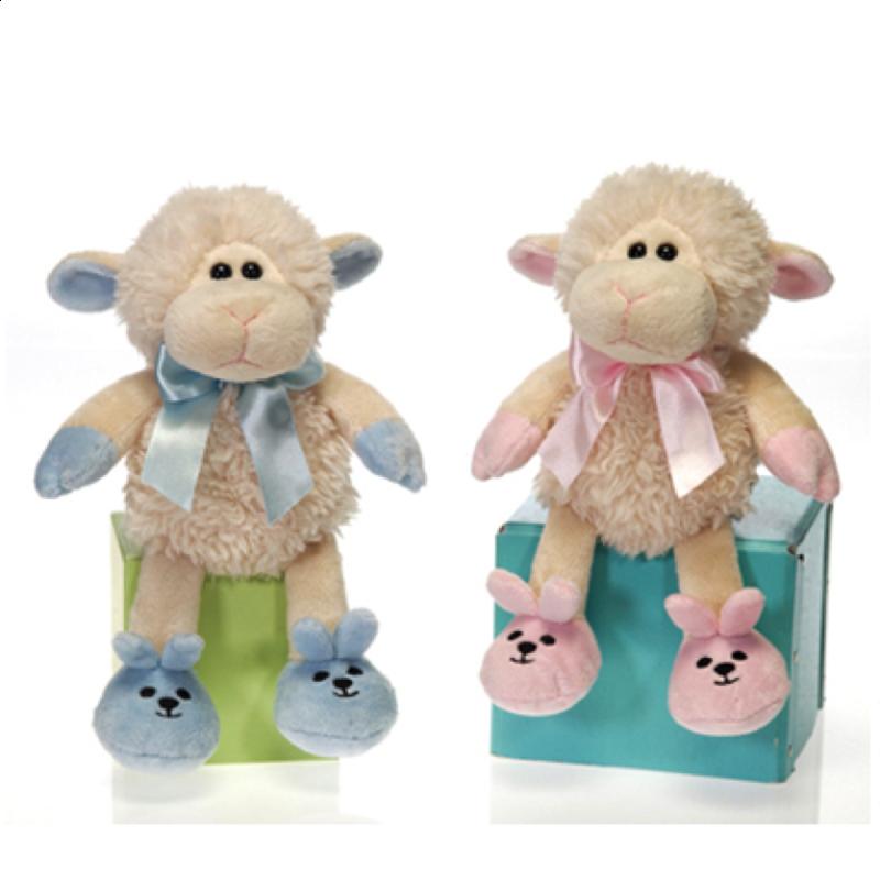 Image 2 of Fiesta Super Soft Baby Boy Lamb Plush 7