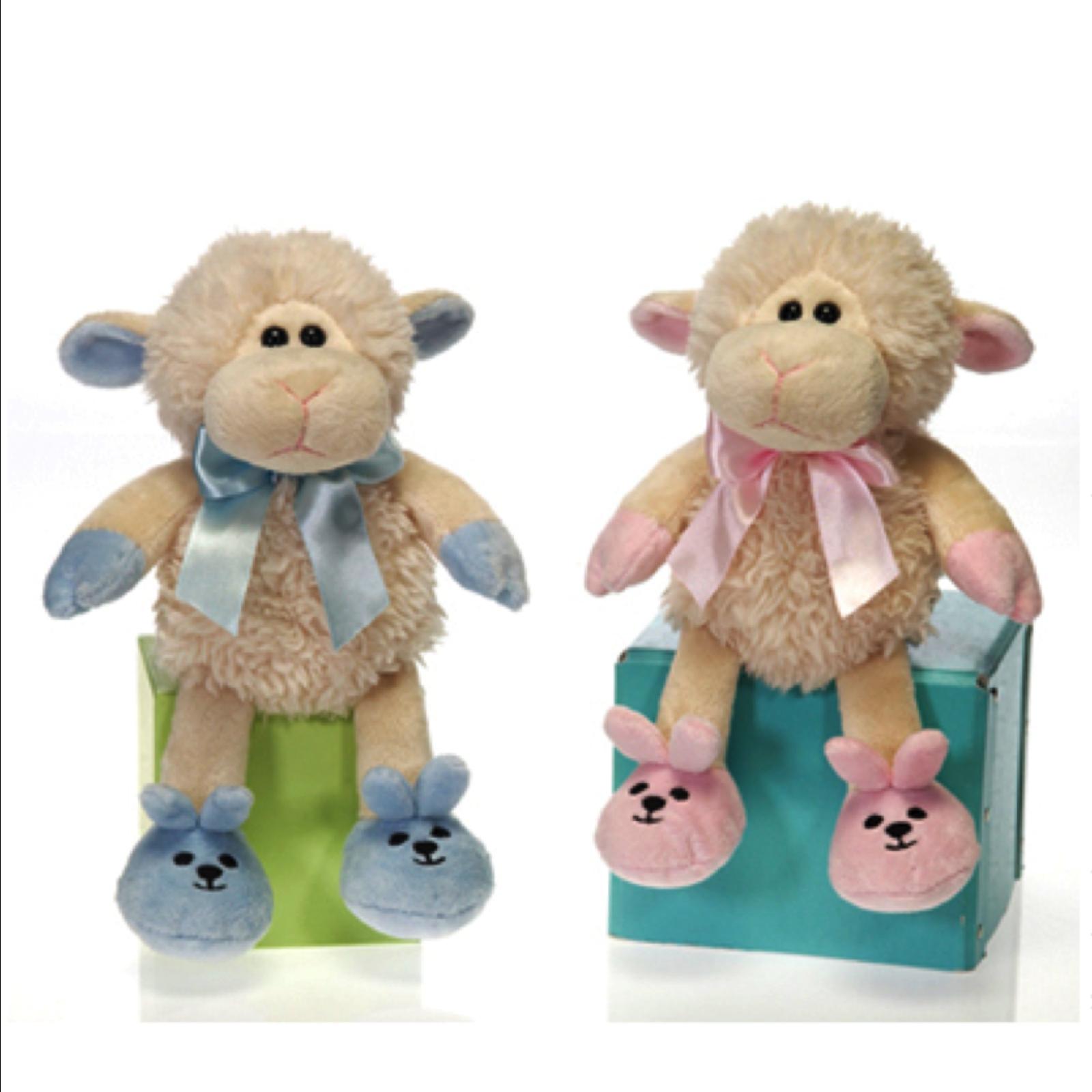 Image 3 of Fiesta Super Soft Baby Boy Lamb Plush 7