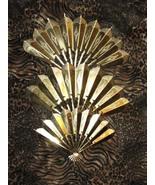 Vintage Brass fan Wall  Decor (Set of 3) - $9.00