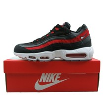 Nike Air Max 95 Essential Bred Black Red Running Shoes Size 10.5 Mens 74... - $153.40