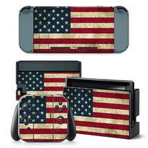 Nintendo Switch American Flag Console & Joy-Con Controller Decal Vinyl S... - $13.83