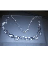 Italian Textured Link Necklace Sterling Silver ... - $49.88