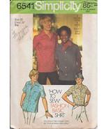 Simplicity 6541 Boys' and Teen-Boys' Shirt  Size 10 - $2.00