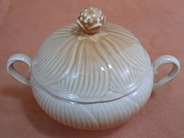 Vintage Mikasa China Spring Amaryllis Pattern Sugar Bowl with Lid Made in Japan - $11.63
