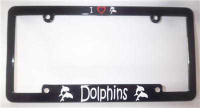 I LOVE DOLPHINS Dolphin LICENSE PLATE FRAME & Decal NEW