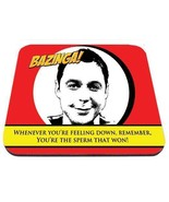 sheldon cooper you're the sperm that won big bang theory tv show mouse pad - $18.99