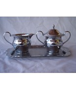 Vintage Farberware Creamer, Sugar with Lid, and Tray - $20.00