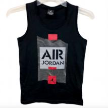Nike Air Jordan Tank Top Workout Basketball Graphic Medium 10 12 Black White Red - $14.95