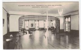 Social Hall Interior Nazareth College Academy Kentucky postcard - $6.93