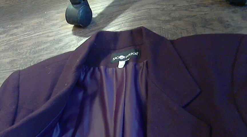 Woman's purple jacket blazer size 14
