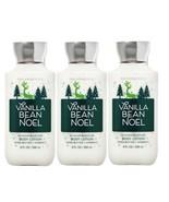 3-Pack Bath & Body Works VANILLA BEAN NOEL 2020 Body Lotion 8 fl.oz 236 ml - $29.69