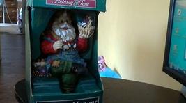 Christmas Santa Claus Figurine Stocking Hanger - $5.00
