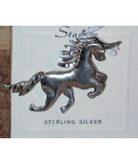 magic Unicorn Sterling silver Charm Pendant Vintage signed Stanlee for n... - $17.00