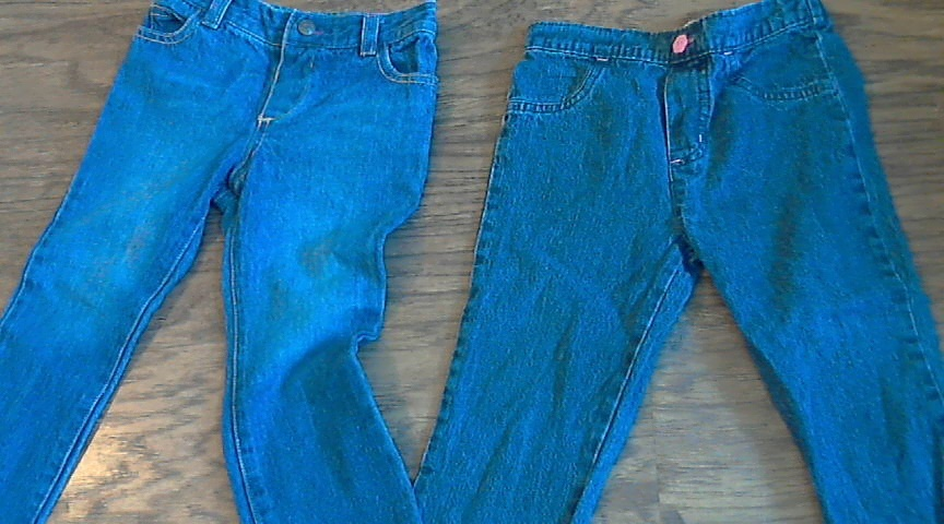Lot of 3 girls denim and camel pants 2T
