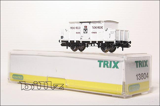 TRIX MINITRIX N 13804 Bavarian K.Bay.Sts.B. Tucher Beer Car