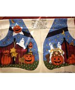 WHICH WITCH AND THE WHO TOO HALLOWEEN VEST LESLIE BECK VIP CRANSTON PANEL  - $12.00