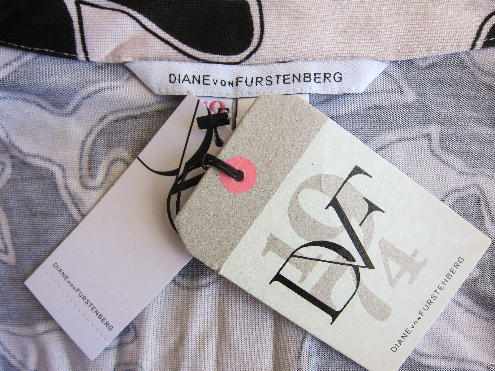 Diane von Furstenberg Abigail Wrap Maxi Dress 8 $595