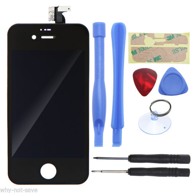 LCD Digitizer Display Glass Screen Replacement Part for iPhone black 4S A1387