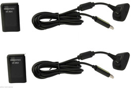 2X replacement Battery Pack and Charger Cable cord for Xbox 360 Controll... - $23.99