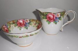 "Paragon ""Tapestry Rose"" Creamer and Open Sugar Bowl Vintage China England - $23.75"