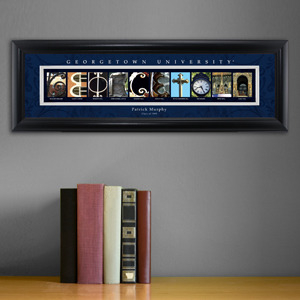Personalized Georgetown University Campus Letter Art Print