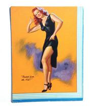 1946 Pinup Girl EARL MORAN Ink Blotter Card Thumb Fun, Eh Kid? USA Red H... - $11.87