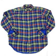 Vintage Polo Ralph Lauren Camisa de Franela Adulto Extra Grande Alto XL - $127.10