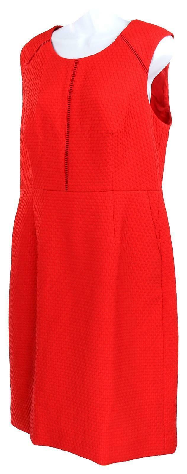 J Crew Women's Portfolio Sheath Dress /Suiting Career Work Red  12 F0791 image 3