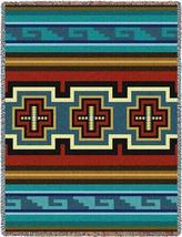 70x53 SARKOY Southwest Native Blue Tapestry Afghan Throw Blanket - $60.00