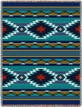 70x53 BALPINAR Southwest Native Blue Tapestry Afghan Throw Blanket - $60.00