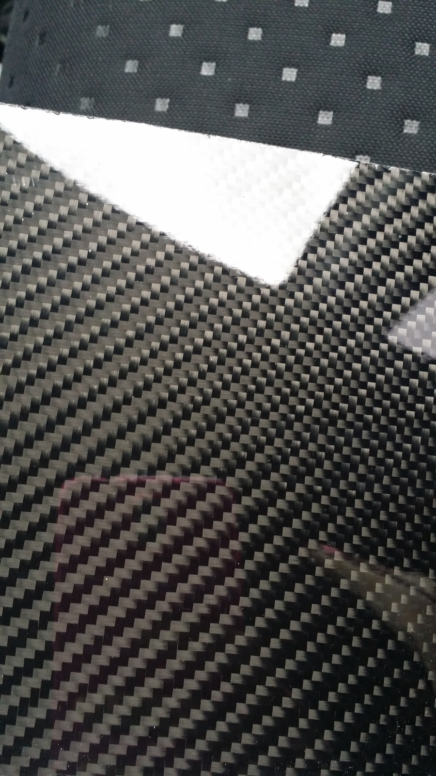 "Real carbon fiber panel sheet 6""×24""×2mm other sizes available"