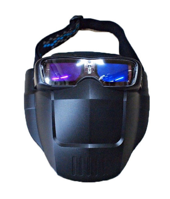 SERVORE Auto Darkening Welding Goggle MASK Shade 5-13 With Face Shield Blue
