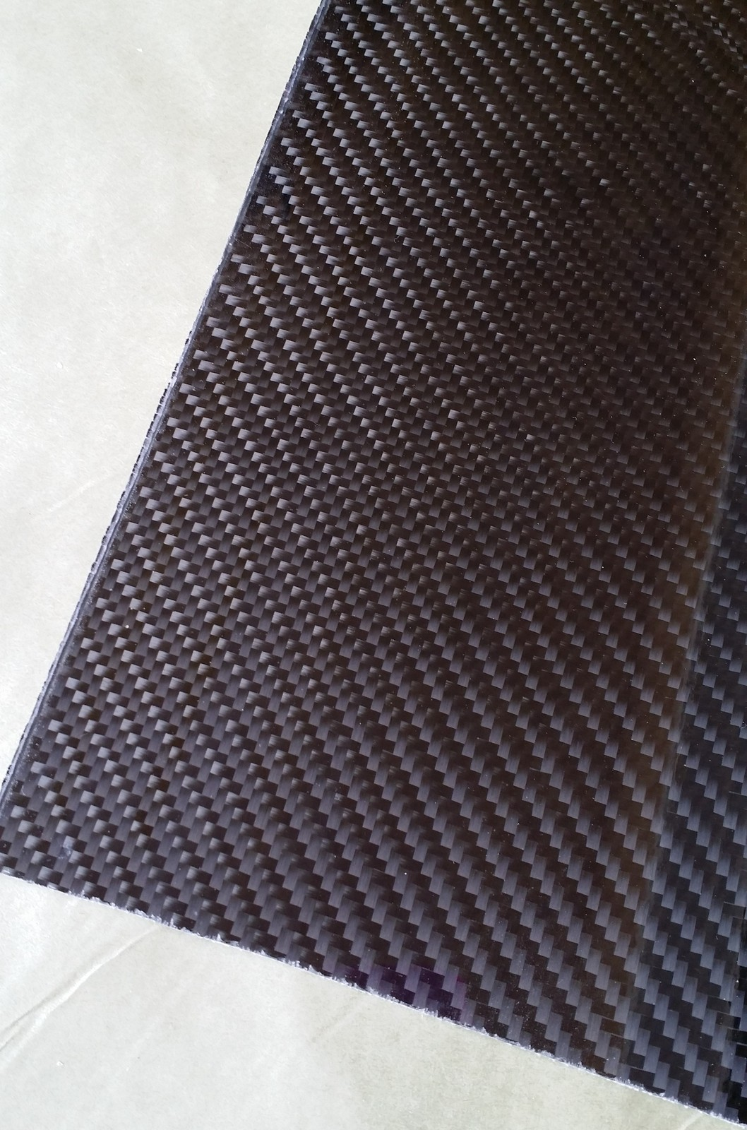 "Real carbon fiber panel sheet 12""×24""×3/32"" other sizes available"