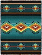 70x53 AYDIN Southwest Native Blue Tapestry Afghan Throw Blanket - $60.00