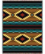 70x53 ANATOLIA Southwest Native Blue Brown Tape... - $50.00