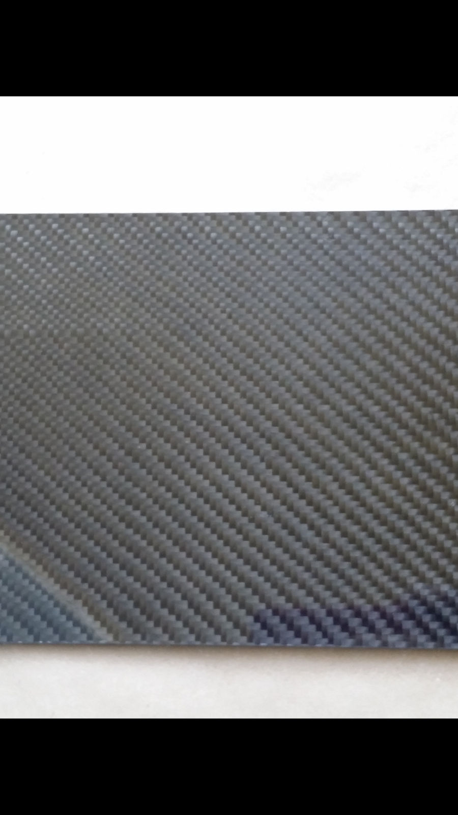 "Real carbon fiber panel sheet 6""×24""×1/8"" other sizes available"