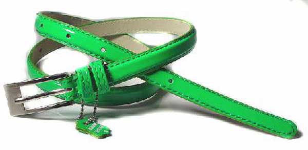 ".5"" WIDE PATENT GREEN LEATHER FASHION BELT FOR GIRLS, FREE USA SHIPPING"