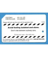 NYC Avoid feeling isolated and alone Metrocard - $4.99